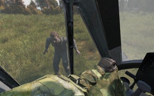 Зомби совсем обнаглели вертолету сесть негде Пора устроить отстрел зомби